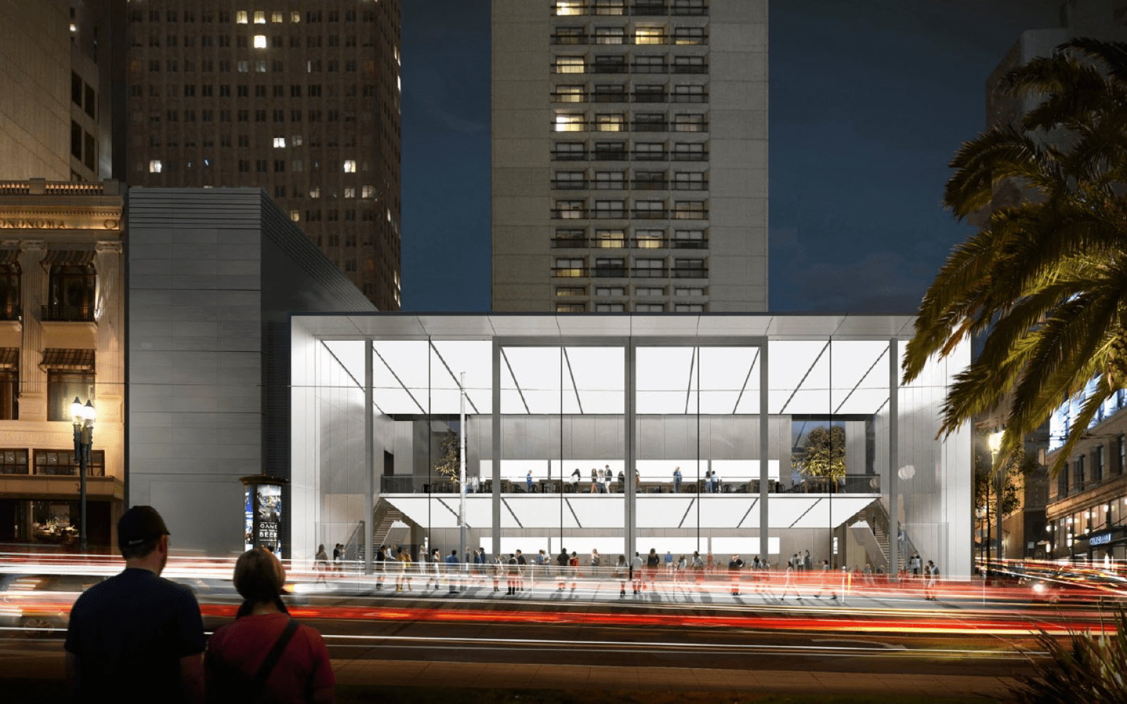 New renderings show proposed Union Square Apple Store with 23-foot sliding glass doors