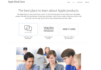 Learn page - new design