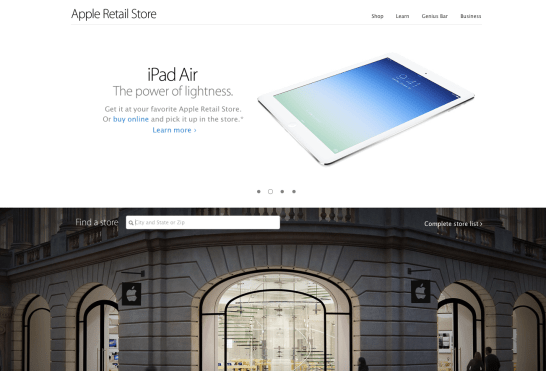Retail home page - new design