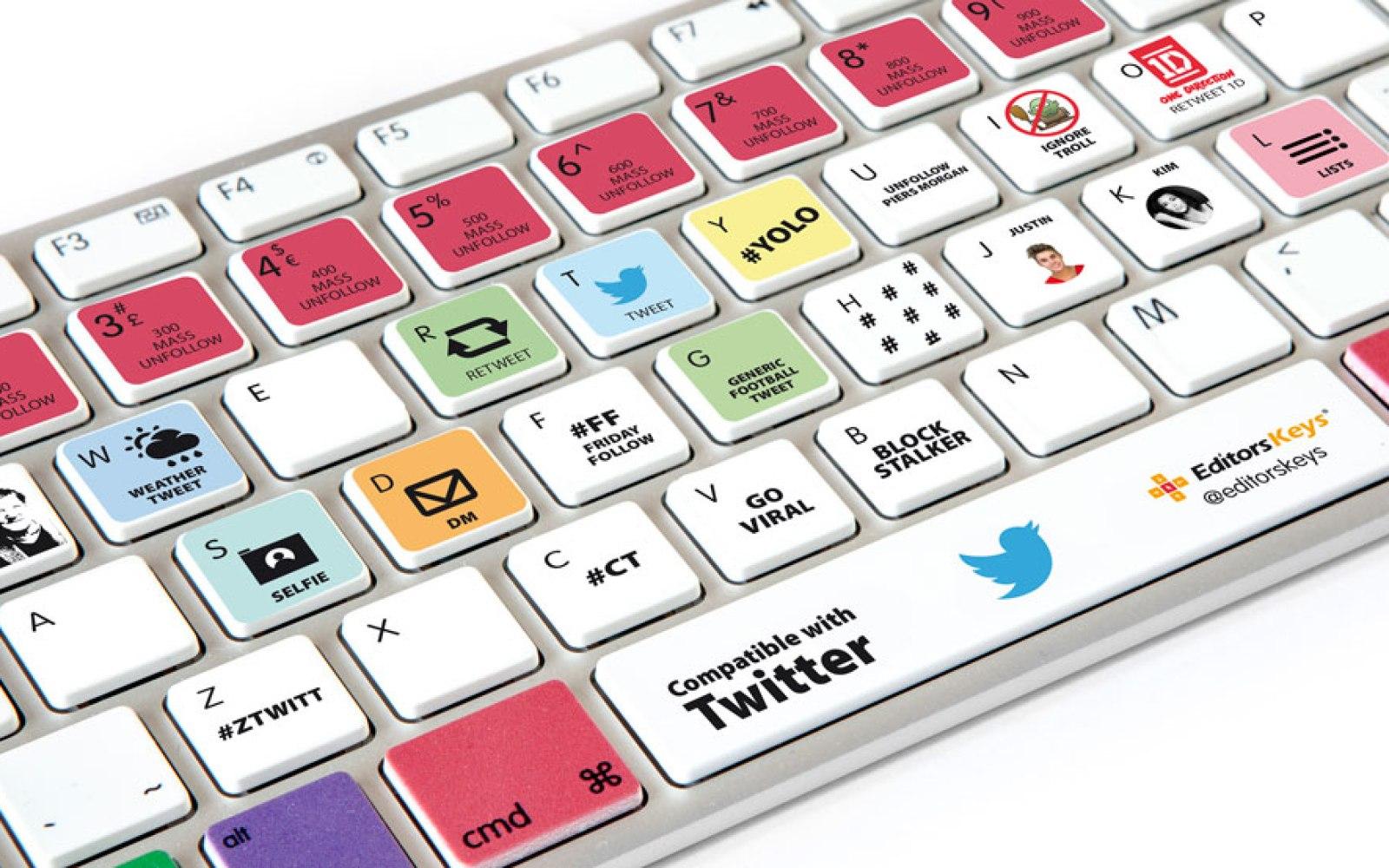 Pro Twitter users: Editors Keys launches custom Apple keyboard for Twitter