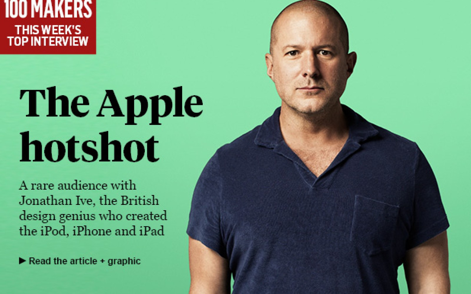 Sunday Times interviews Jonathan Ive on everything design, Apple, and much more