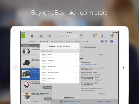 eBay revamps iOS apps, adds in-store pickup on iPad, Passbook integration, more