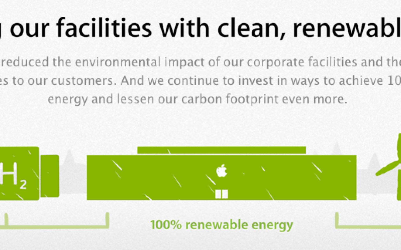 Apple ranked well in Greenpeace's 'Green Internet' report for its renewable energy efforts