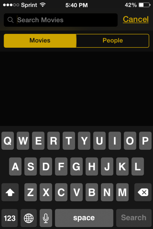 todoMovies Search Screen