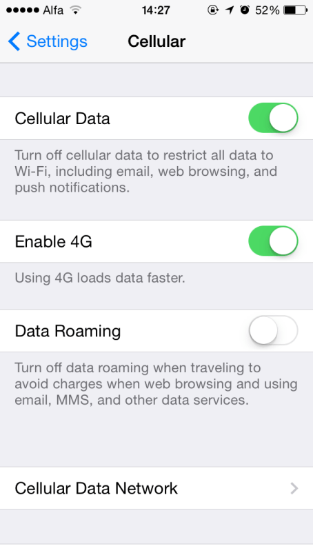 Battery enable 4g