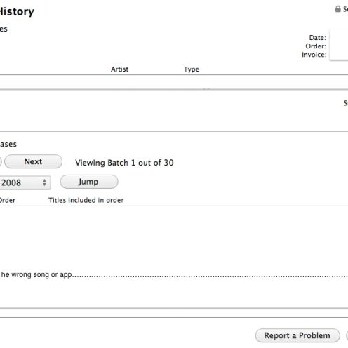 return purchase history list