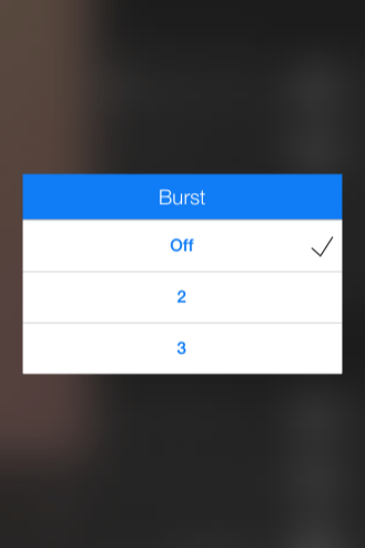 VoiceSnap burst setting