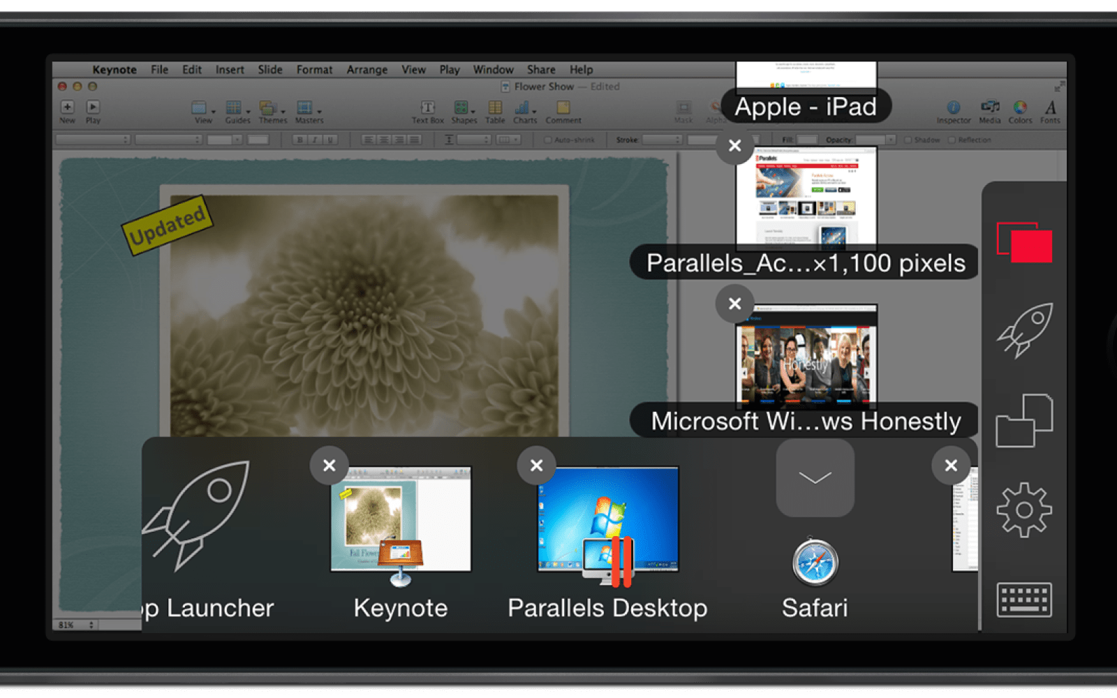 Parallels Access remote access app jumps from iPad to iPhone, gains Finder-like functionality