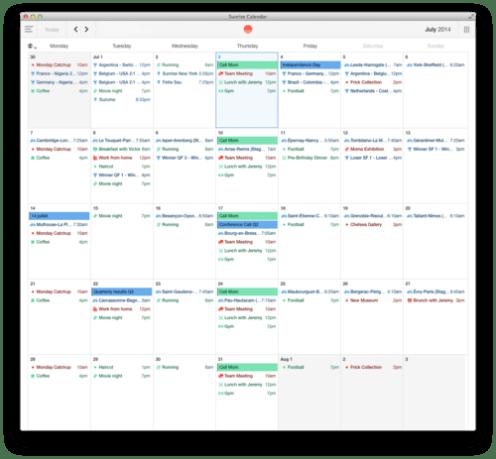 Sunrise Calendar announces new Mac client with offline mode, third-party app integration