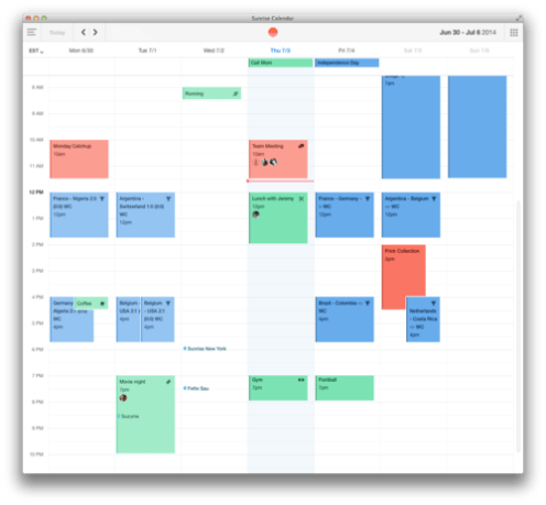 Sunrise Calendar announces new Mac client with offline ...