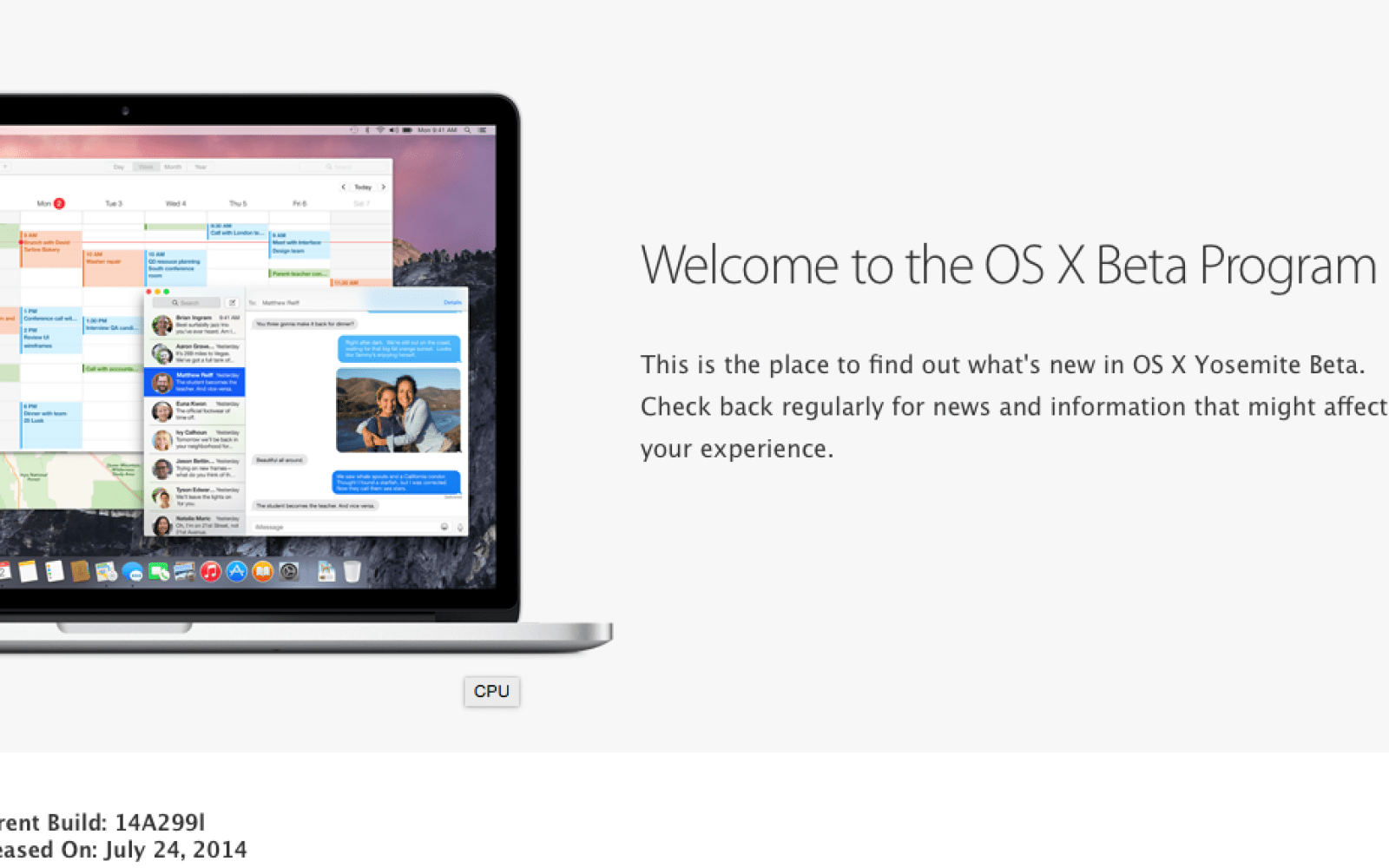 Apple releases OS X Yosemite Public Beta