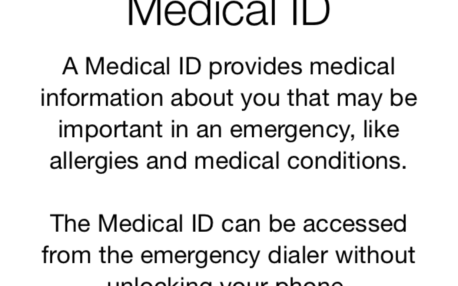 iOS 8 How-to: Create the Medical ID