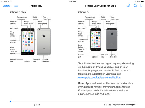 Apple's official iPhone User Guide for iOS 8 now available on iBooks