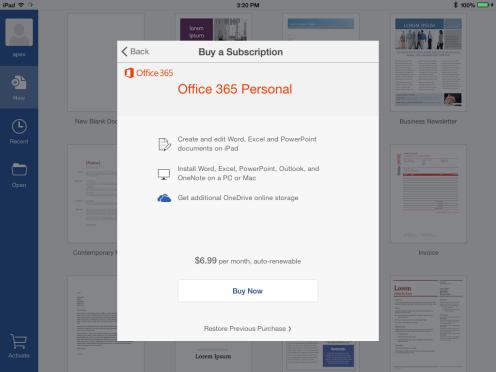 Office-subcription