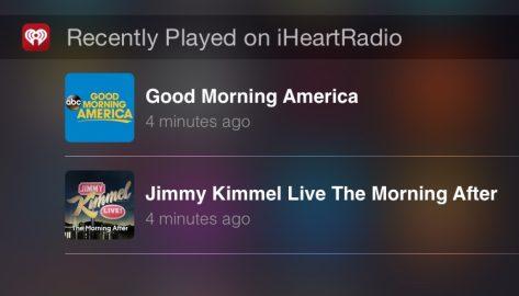 iHeartRadio Today widget