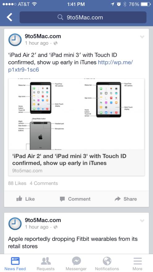 Facebook iPhone 6