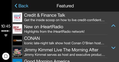 iHeartRadio iPhone app updated w/ CarPlay support & Today widget