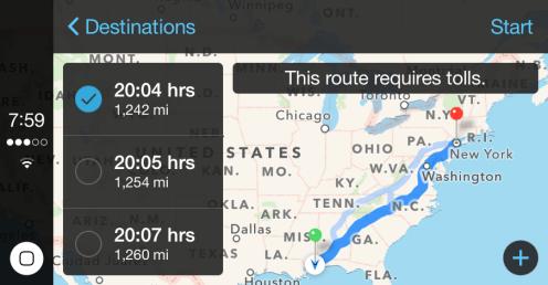 Maps options