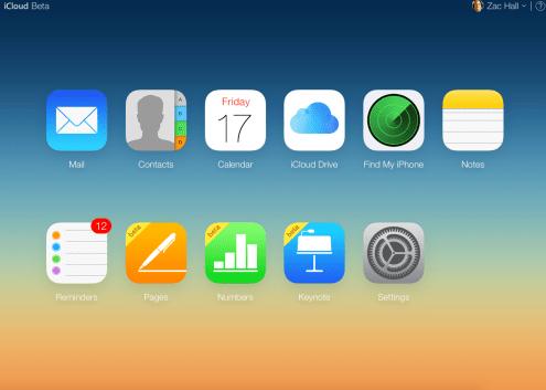 Beta iCloud site