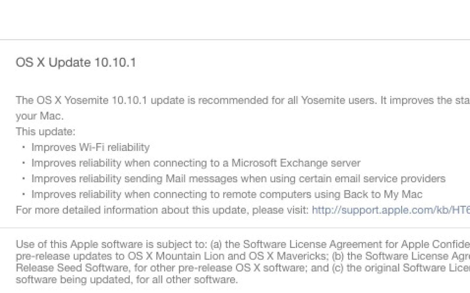 Apple releases OS X Yosemite 10 10 1 w/ bug fixes & WiFi