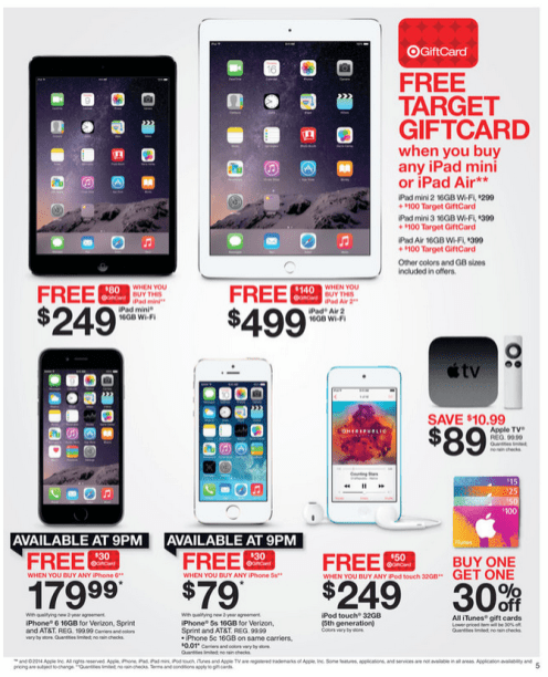 Here Are Target S Black Friday Apple Deals Ipad Air 2 W 140 Gc 499 Ipad Mini W 80 Gc 249 Beats Solo 97 More 9to5mac