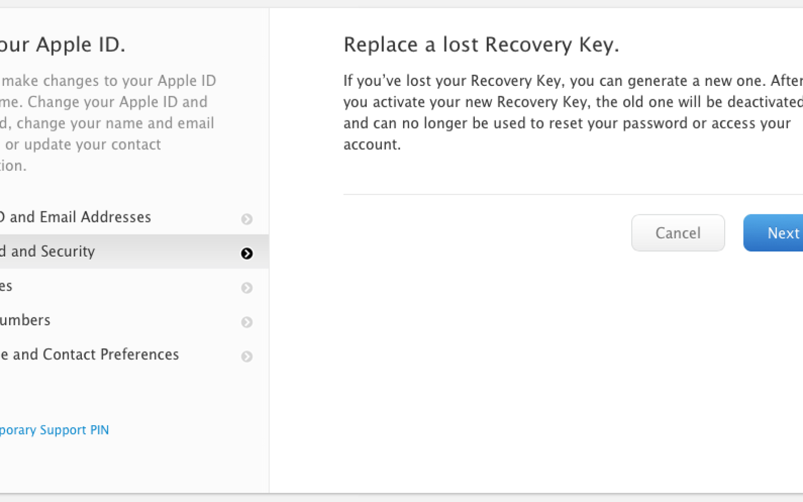 PSA: Make sure you have a recovery key for your Apple ID – you'll need it if you get hacked