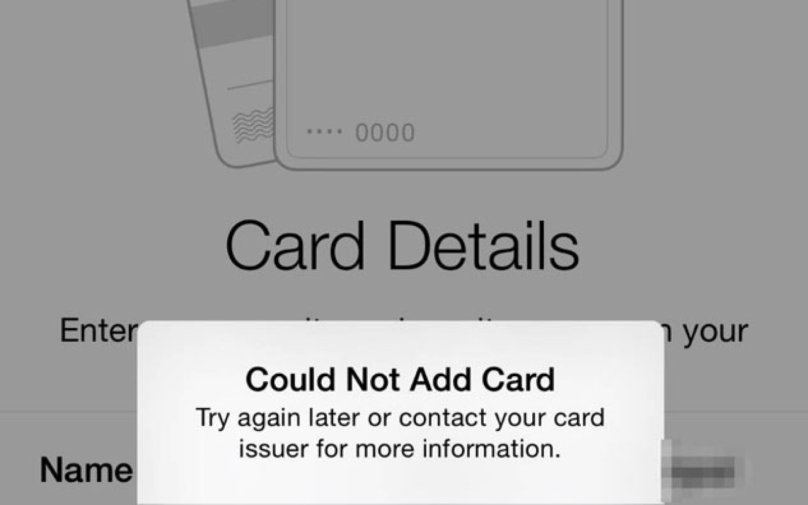 iPhone 6 owners reporting that cards cannot be added back into Apple Pay after a restore