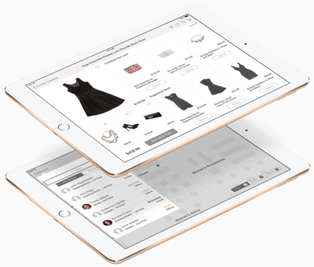 """Sales Assist """"With the Sales Assist app for iOS, sales associates can quickly become trusted fashion advisors for in-store customers. Using iBeacon technology with iPad, a shopper's whereabouts on the store floor is easily identified so he or she can be found and helped quickly. Sales associates can look up inventory, suggest clothing based on previous purchases, and even offer accessories to complement a look. If a product is not in stock, the Sales Assist app can locate the item and confirm shipping on the spot. It's a fresh way of enabling every sales associate to become a personal shopper for anyone who walks in the store."""""""