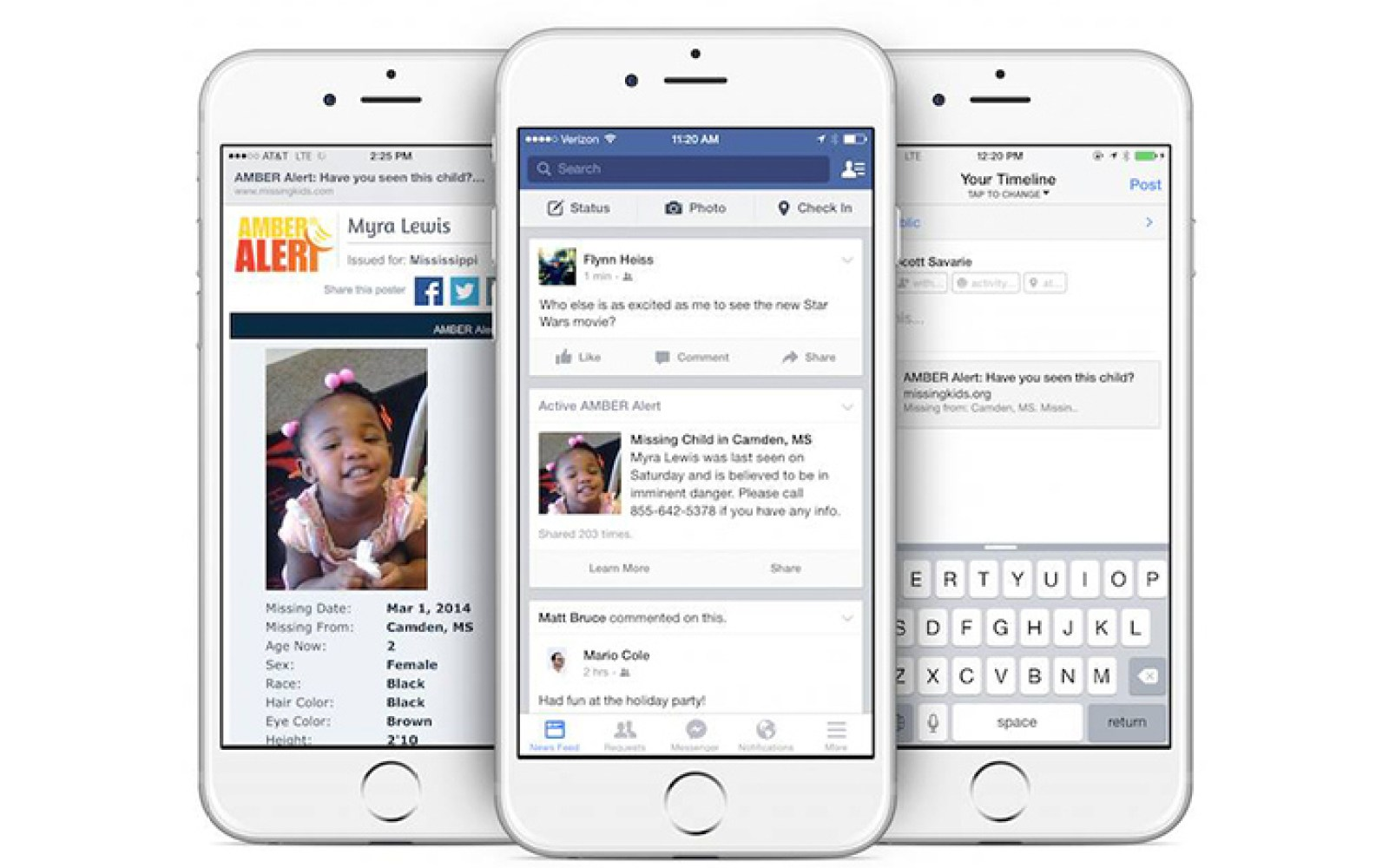Facebook adding AMBER Alerts to its mobile apps and web