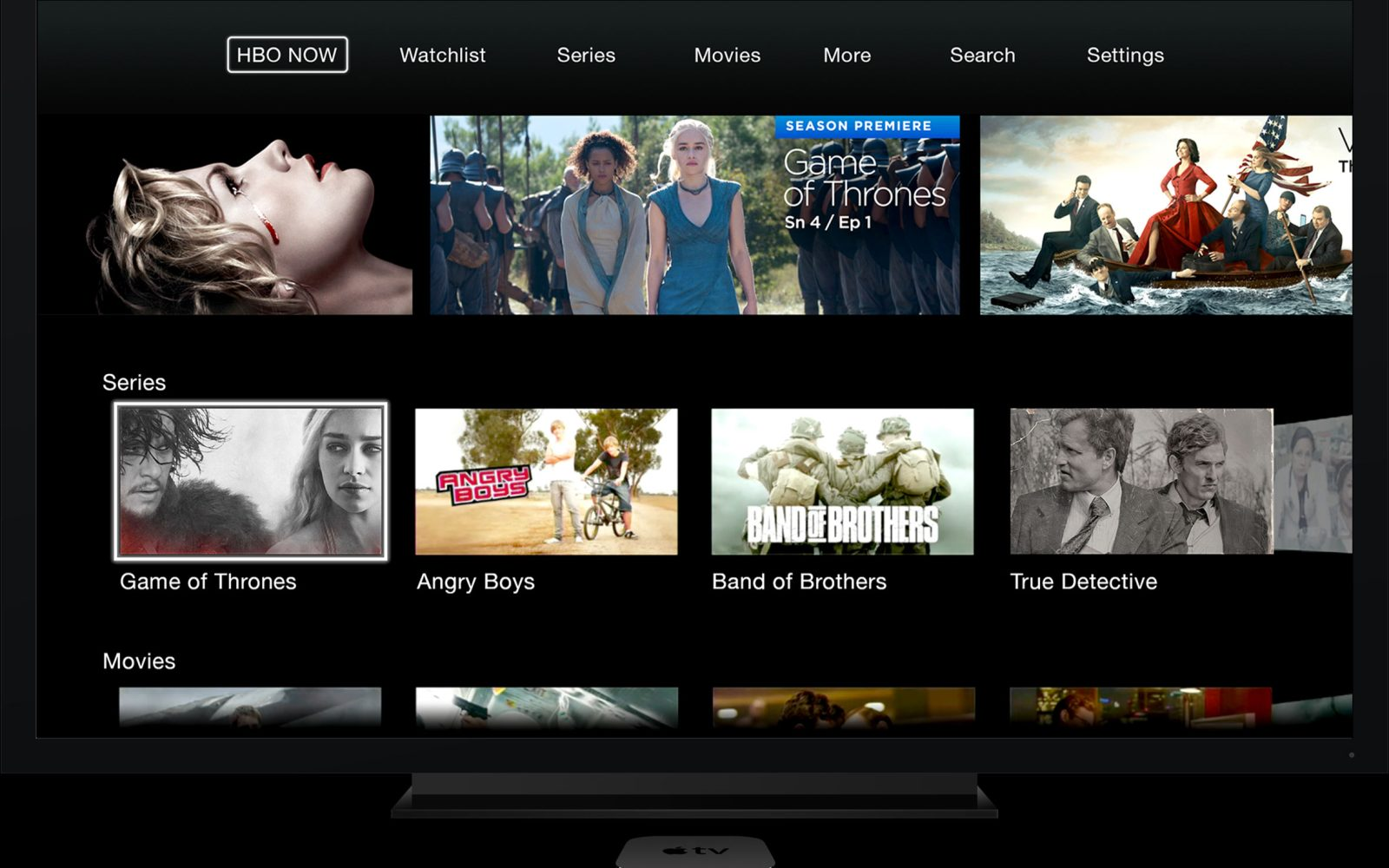 HBO NOW standalone streaming service debuts on Apple TV, iPhone
