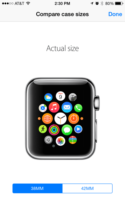 Apple Watch size