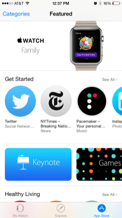 Apple Watch App Store 1