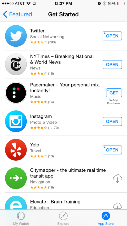 Apple Watch App Store 7