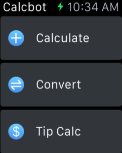 Calcbot on Apple Watch
