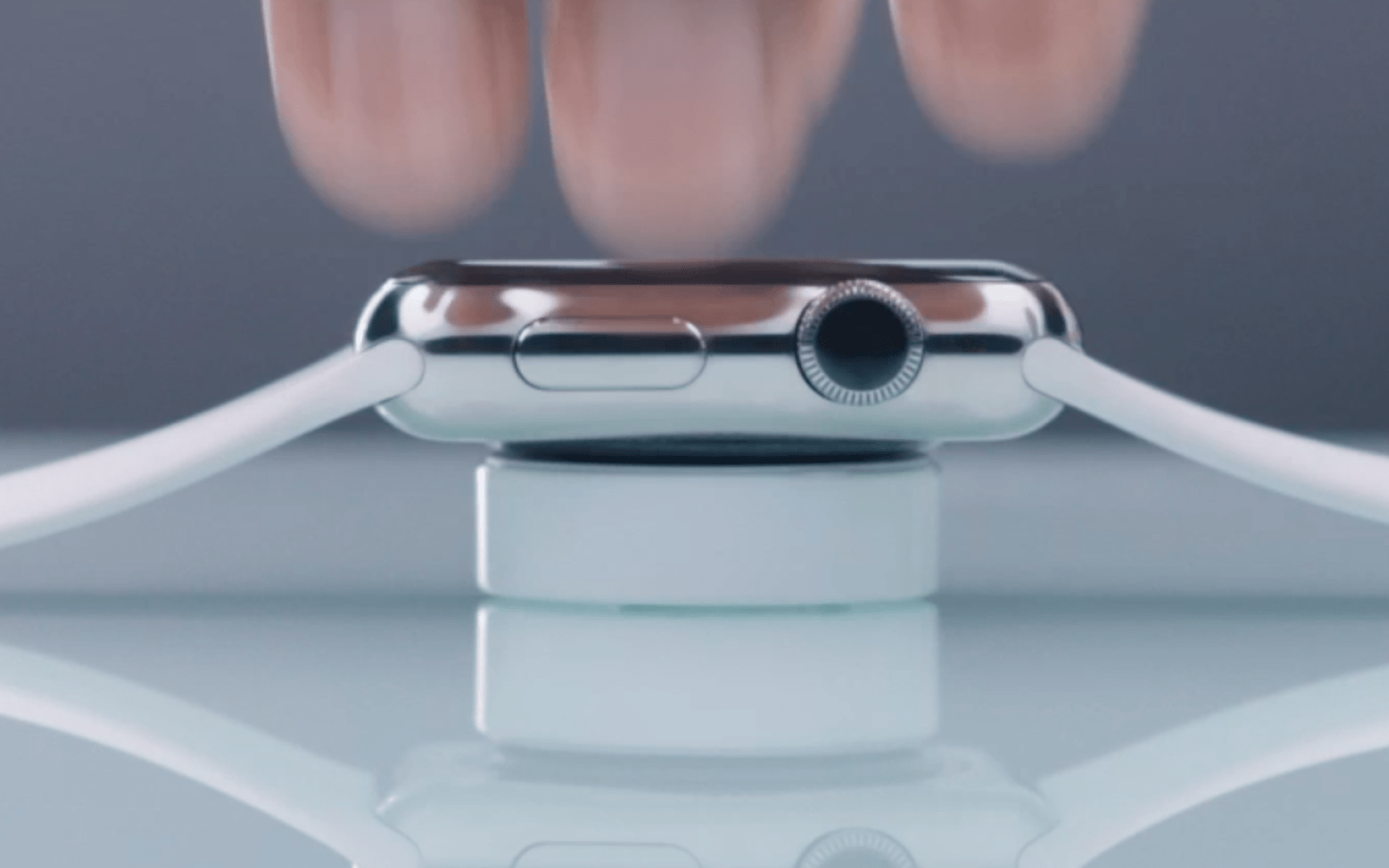 Stationary Apple Watch charging dock shown in Apple Environment ...