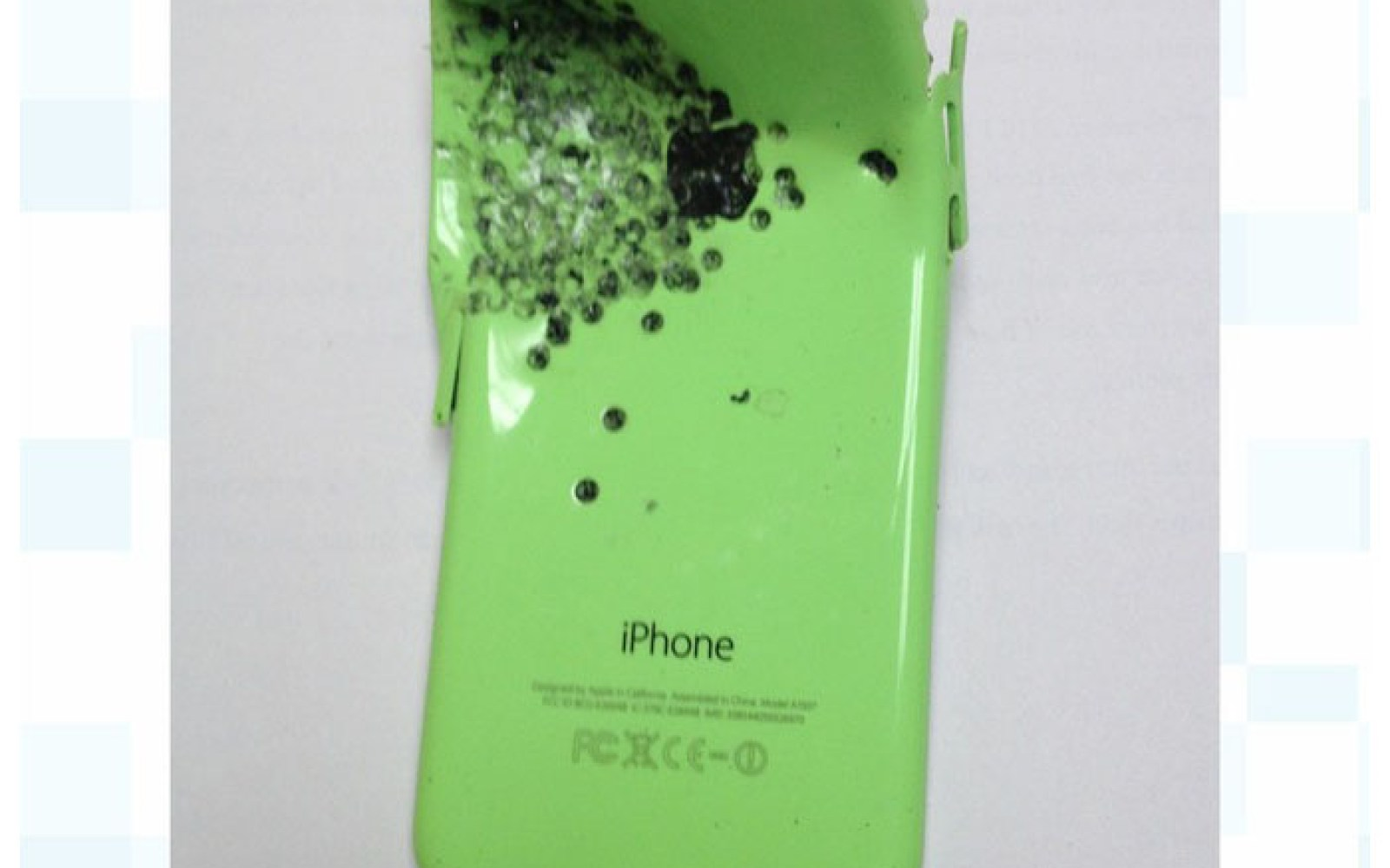 Police show photo of iPhone 5c they say saved gunshot victim's life