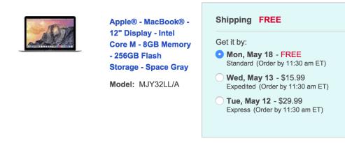 Macbook-shipping-discount