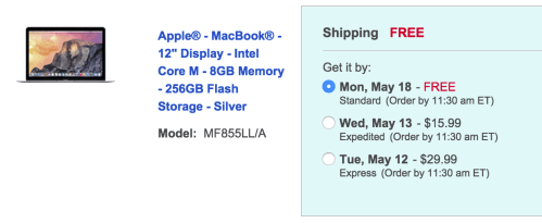 macbook shipping discount
