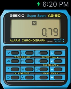Geek Watch brings the classic Casio calculator interface to Apple Watch