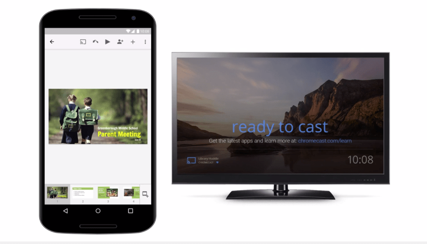 Google Docs Slides App Updated With Airplay And Chromecast Support