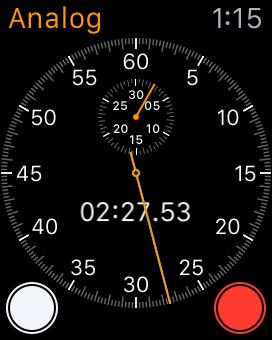 Apple Watch Analog Stopwatch