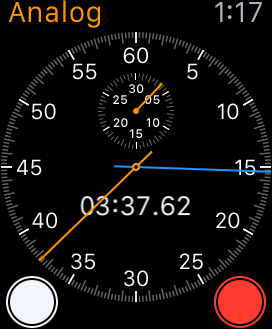 Apple Watch Analog Stopwatch with a lap