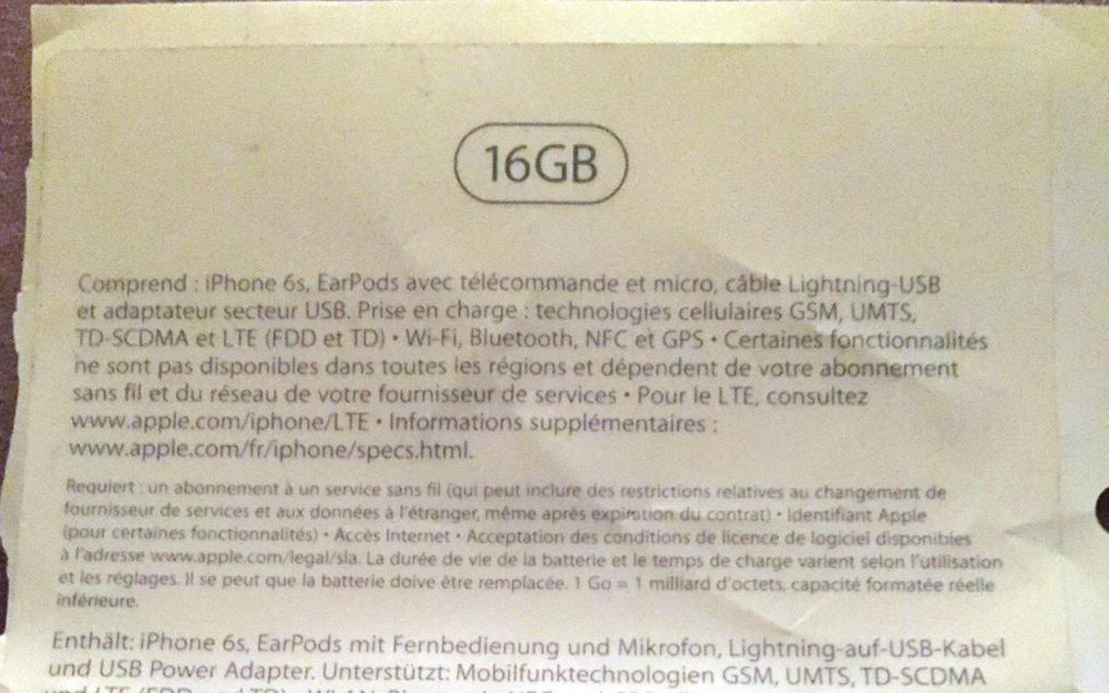 iPhone 6S rumors: New packaging leak suggests 16 GB base model will stay around for another product cycle