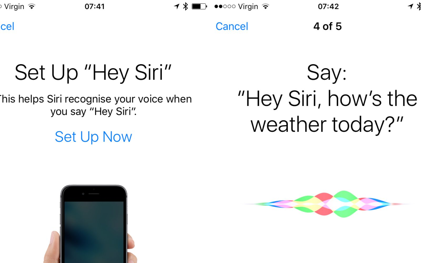 iOS 9 includes 'Hey Siri' voice training to help Siri better recognize your voice