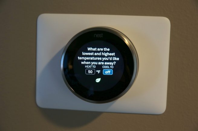 Nest Thermostat Wall