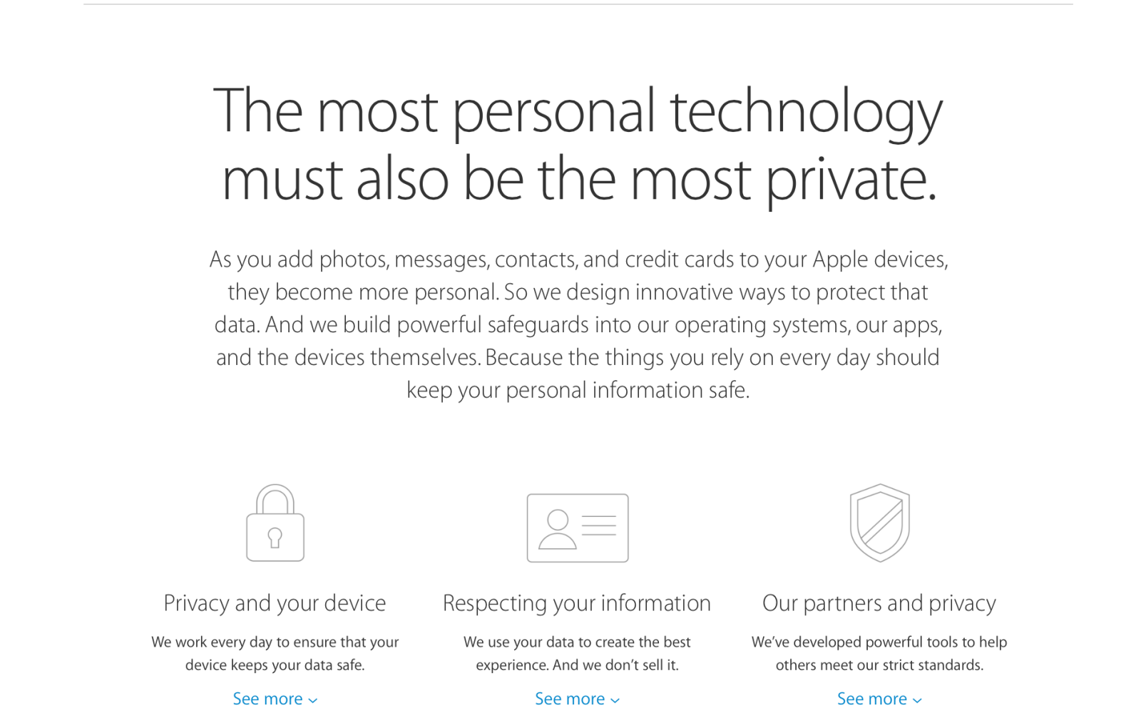 Apple updates Privacy website with details on latest iOS 9