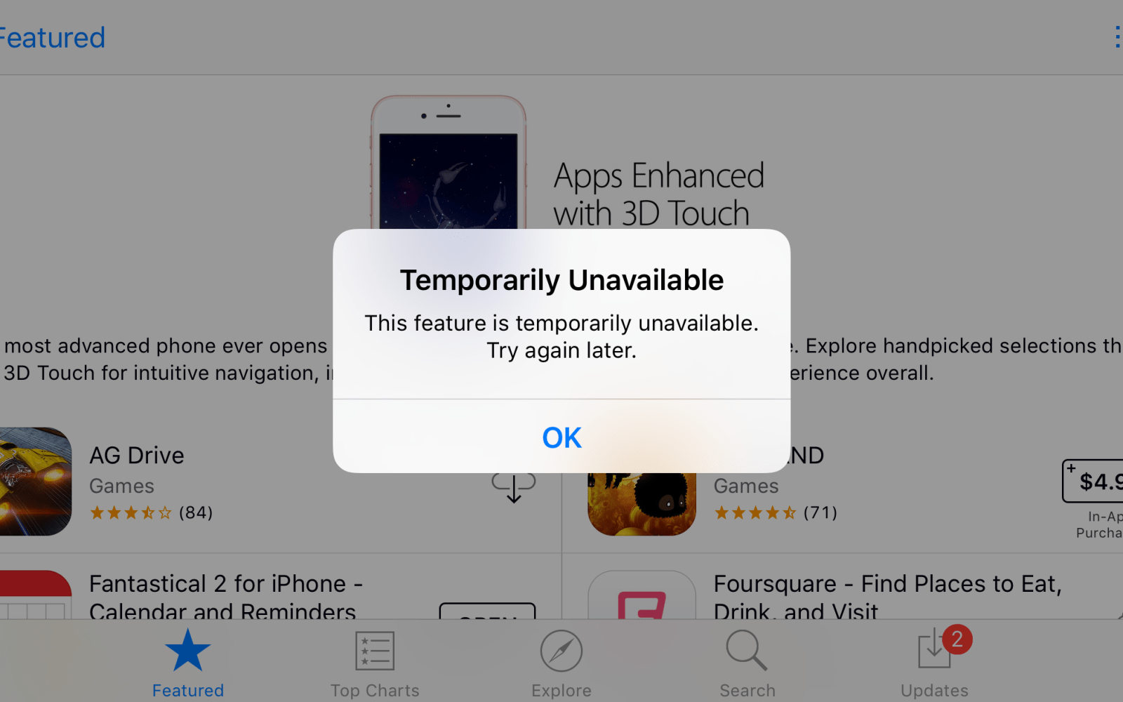 App Store 'temporarily unavailable' error preventing downloads and updates for some [U: Resolved]