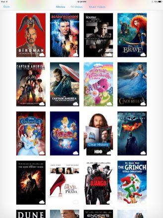 Comparison: Movie covers on iPad Pro