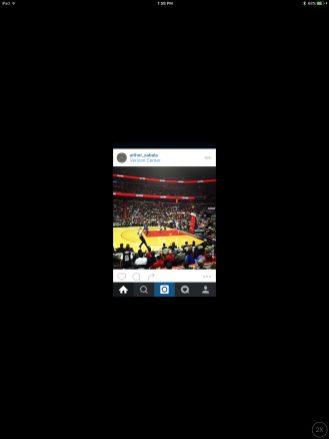 iPad Pro running Instagram at 1x