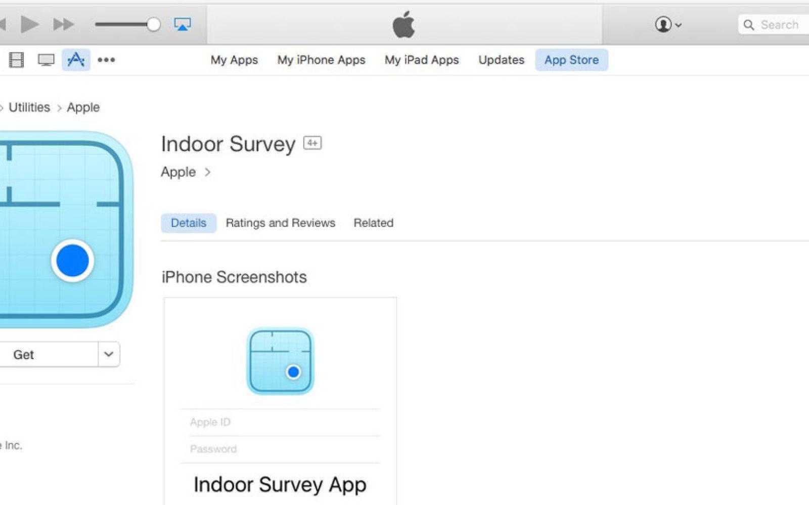 Apple has a hidden 'indoor GPS' app in the App Store, for